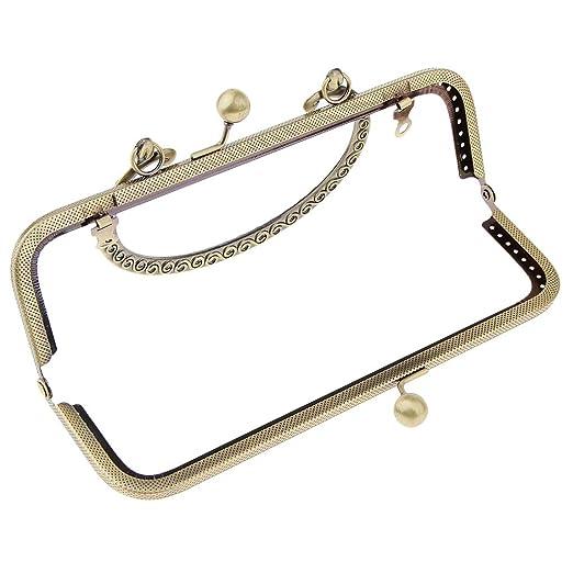Amazon.com: Prettyia Sew In Coin Bag Purse Metal Frame Handbag Clasp ...