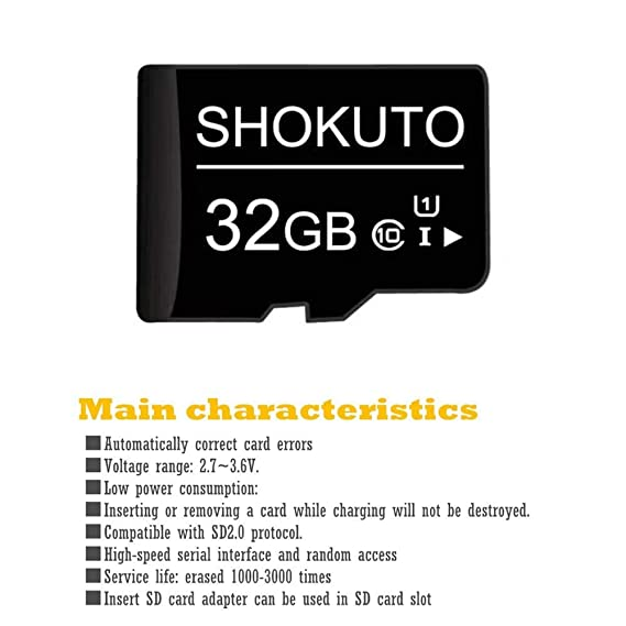 Tarjeta SD, 32 GB, Tarjeta de Memoria Micro SDHC (Tarjeta TF), Clase 10, U1,