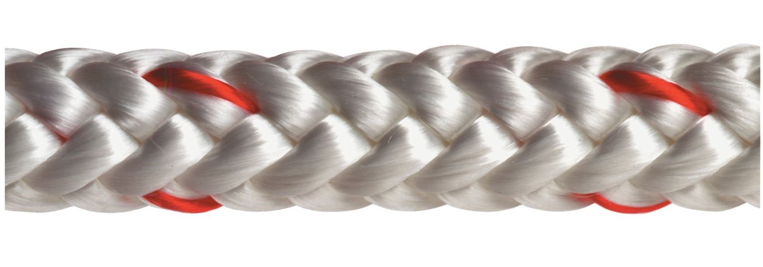 All Gear AG12SP12150RW Climbing Rope, PES, 1/2'' Diameter, 150' Length