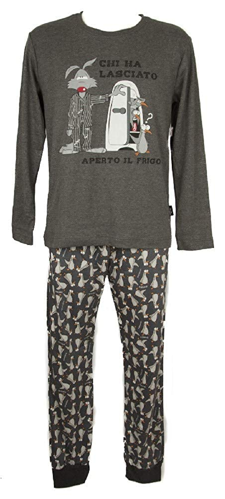 Happy People Pigiama Uomo Manica Lunga Collo Girocollo Homewear Sleepwear Articolo 4336