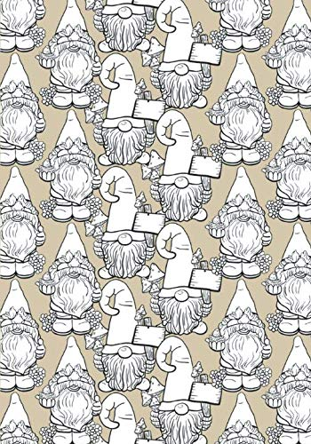 Happy Garden Gnomes Lined Undated Journal: Blissful Gnome Characters Cover