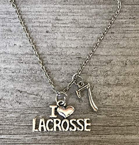 Personalized Lacrosse Necklace, Custom Lax Jewelry Gifts for Lacrosse Players, Teams & Coaches