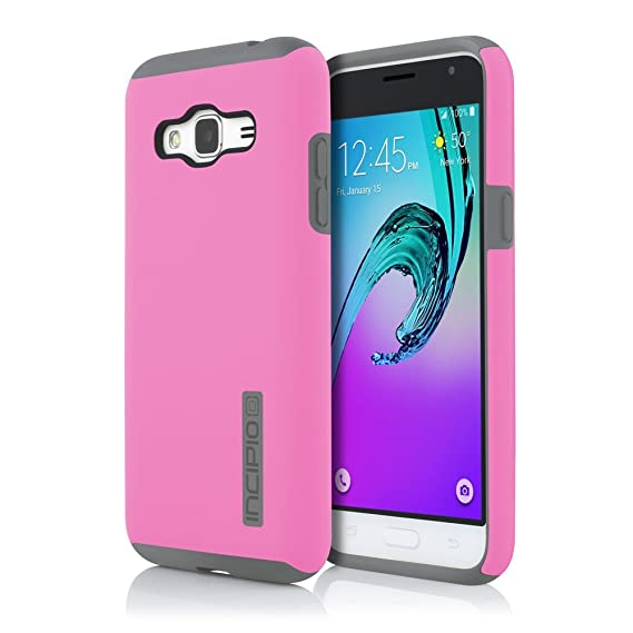 buy popular 7da26 bbf3d Incipio Cell Phone Case for Samsung Galaxy J3 - Retail Packaging - Pink/Gray