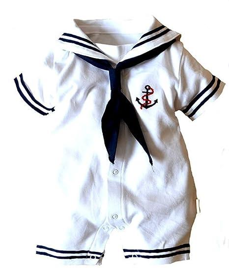 e0ae599533ac Amazon.com  Baby Boy Girl Anchor Sailor White Striped Photo Props ...
