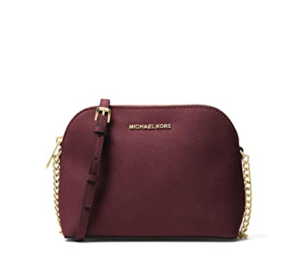 c731b6094b9a MICHAEL Michael Kors Cindy Large Dome Saffiano Leather Crossbody in Oxblood