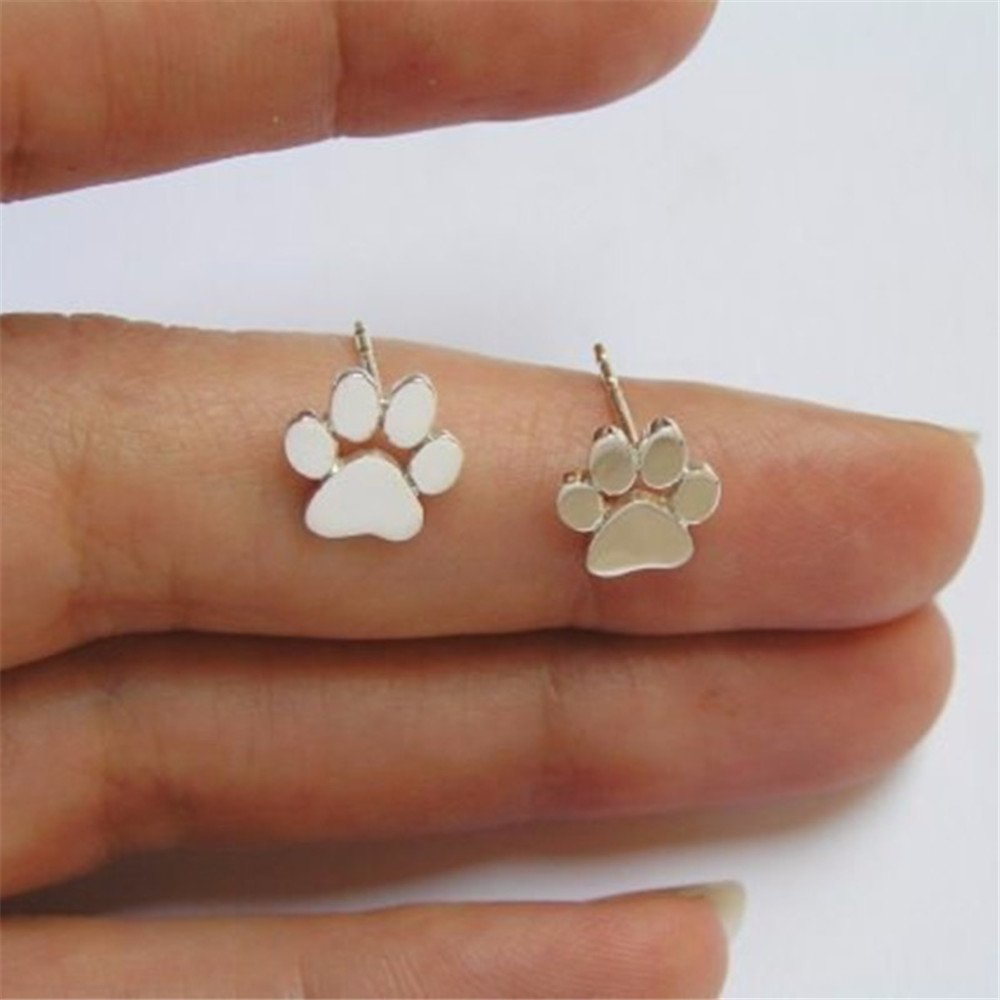 Addyxin Cute Pet Dog Claw Paw Animal Footprint Stud Earrings Dogs Tag Earings For Dog Lovers