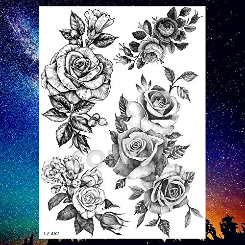 Buy temporary flower tattoos large