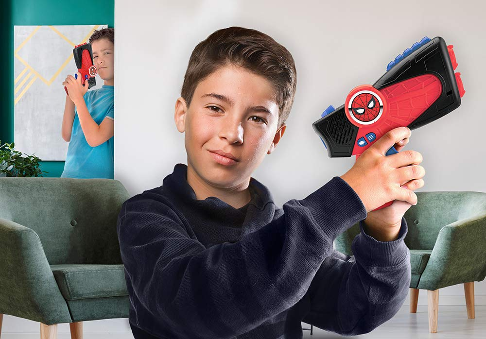 Spiderman Far from Home Laser-Tag for Kids Infared Lazer-Tag Blasters Lights Up & Vibrates When Hit by eKids (Image #4)