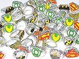 Best DC Comics Kids Stuffs - DC Superhero Novelty Power Rings 4 Dozen Review
