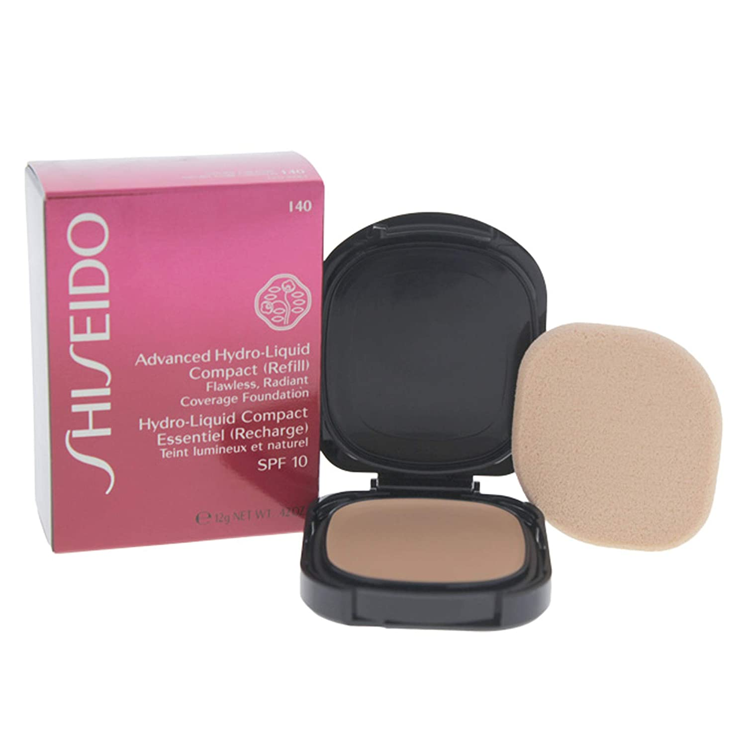 Shiseido Foundation femme/woman, Advanced Hydro-Liquid Compact Refill Nummer I40 Natural Fair Ivory, 1er Pack (1 x 12 ml) 729238500648 SHI00124