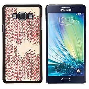 KLONGSHOP // Cubierta de piel con cierre a presión Shell trasero duro de goma Protección Caso - Modelo blanco del papel pintado del arte - Samsung Galaxy A7 A7000 //