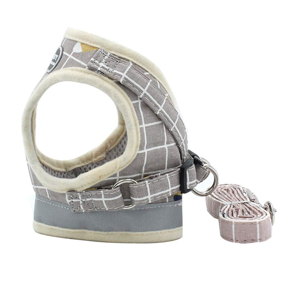 1001-S Dog Leash, Reflective Vest Leash Summer Pet Chest Strap Breathable Dog Out Dog Leopard Cord Pet Supplies (color   1001-S)