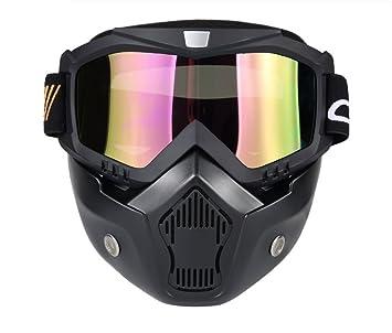 WUTONG Gafas de locomotora Harley con máscara de casco de moto máscara fuera de carretera gafas