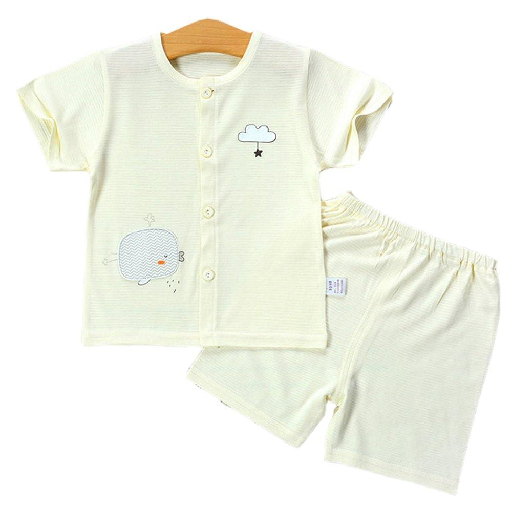 Fibra di bamb/ù Abito Sottile Morbido Set di Vestiti Estivi Appena Nati Huateng Baby Set Unisex