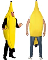 2win2buy Costume Banana Suit Lightweight Halloween Adult Banana Funny Suit