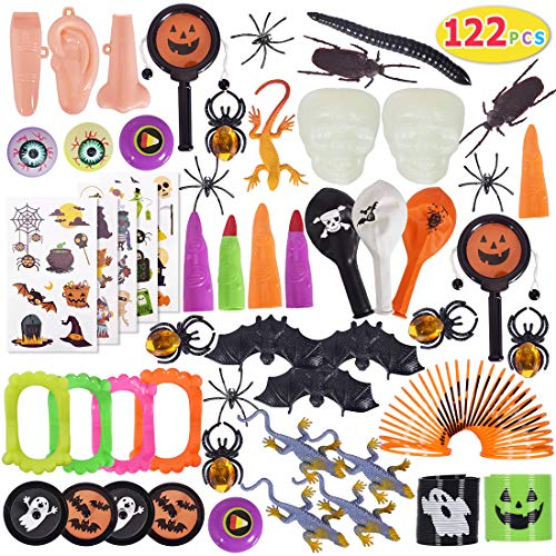 Halloween Party Items (Max Fun 122Pcs Random Color Assortment Toys for Kids Halloween Party Favors Prizes Box Toy Assortment)
