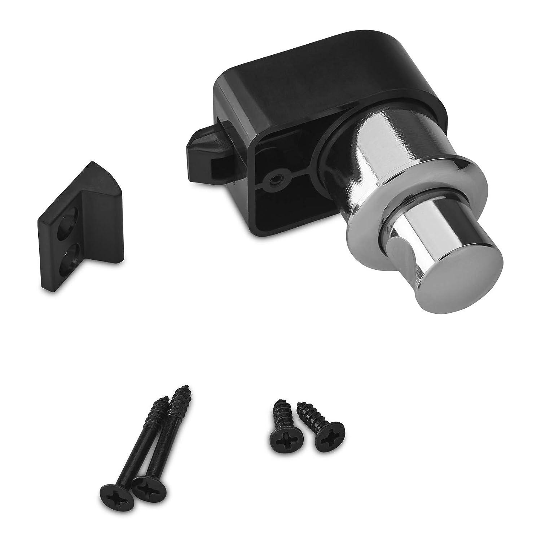 2 x Push-Lock M/öbelschl/össer CAMPIA Chrom poliert Schl/össer Druckschl/össer f/ür Caravan /& Boot von SO-TECH