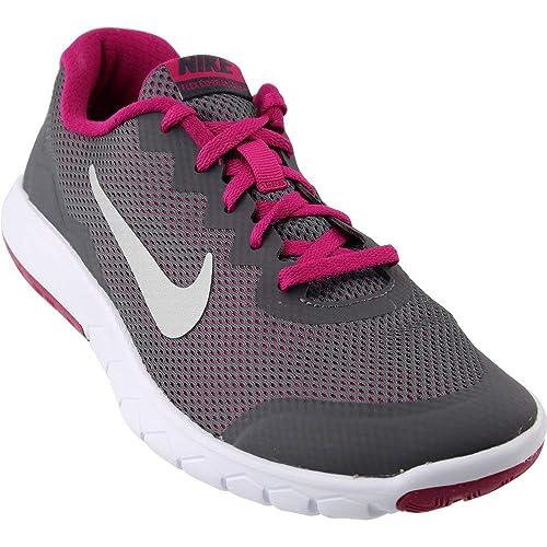 sale retailer 9526b cffe8 Nike Girls Flex Experience 4 Athletic Shoe GreyFuchsia (3.5 Big Kid M,