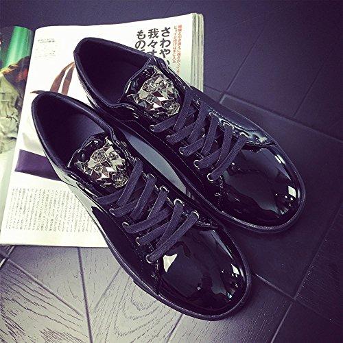 Course Flats Sneakers Homme Noir Léopard Chaussures Doré de Baskets 39 Argent 44 Bleu Basses Noir Lacer Patent qgYpxwd0AY