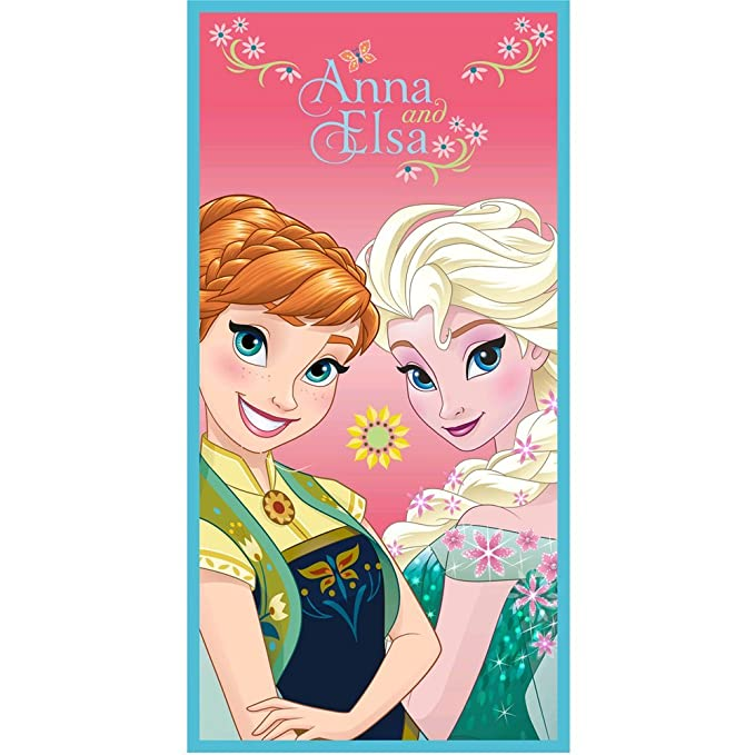 Disney El reino del hielo Chicas Toalla de playa - Azul -: Amazon.es: Ropa y accesorios