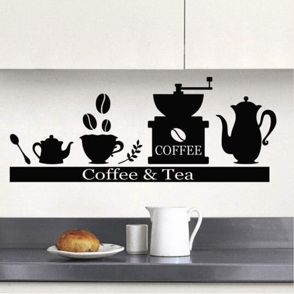 Máquina de café calcomanía de pared portavasos de té estante de ...
