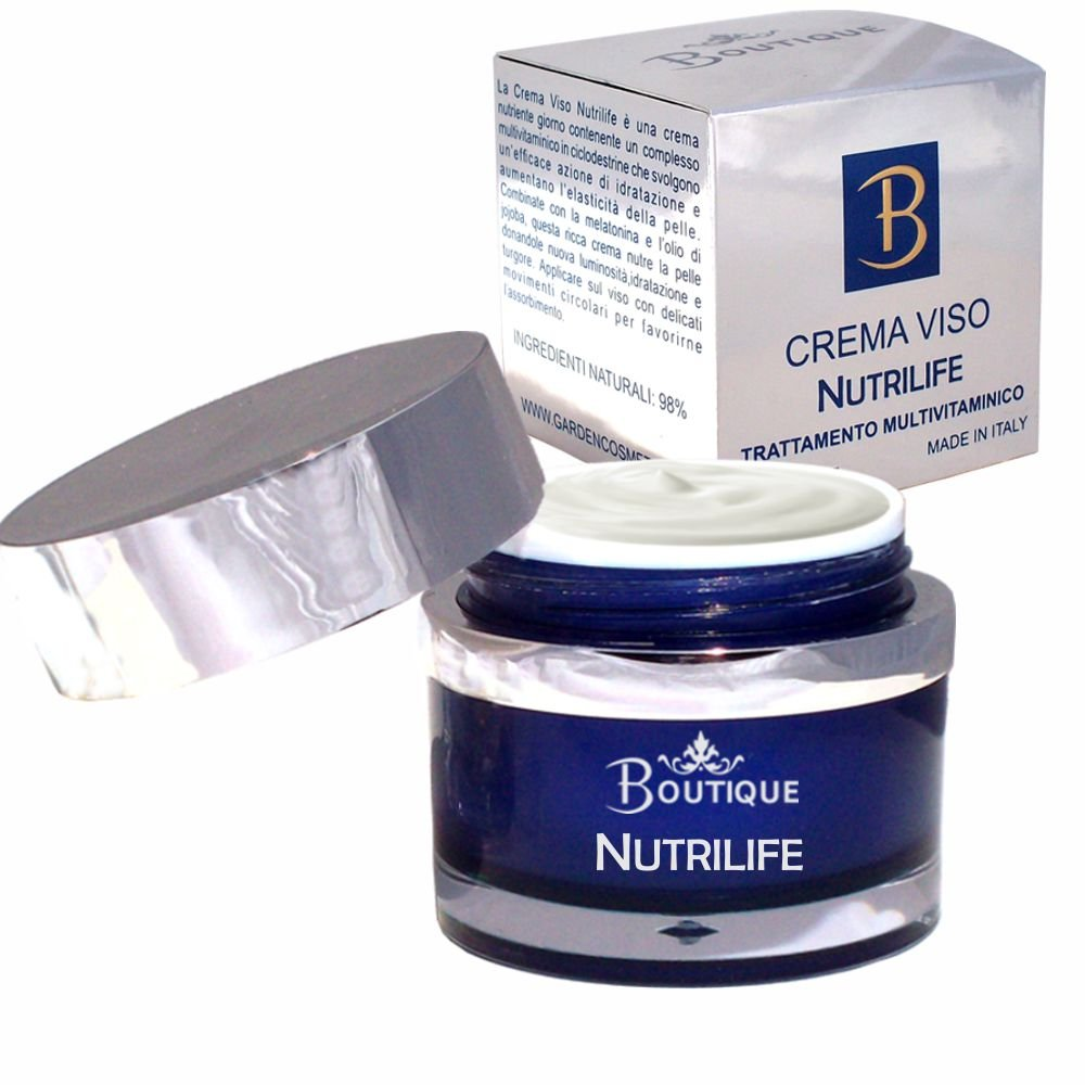 Boutique - Crema facial nutritiva Nutrilife, Multivitaminica con aceite de Jojoba y melatonina - 50 ml: Amazon.es: Belleza