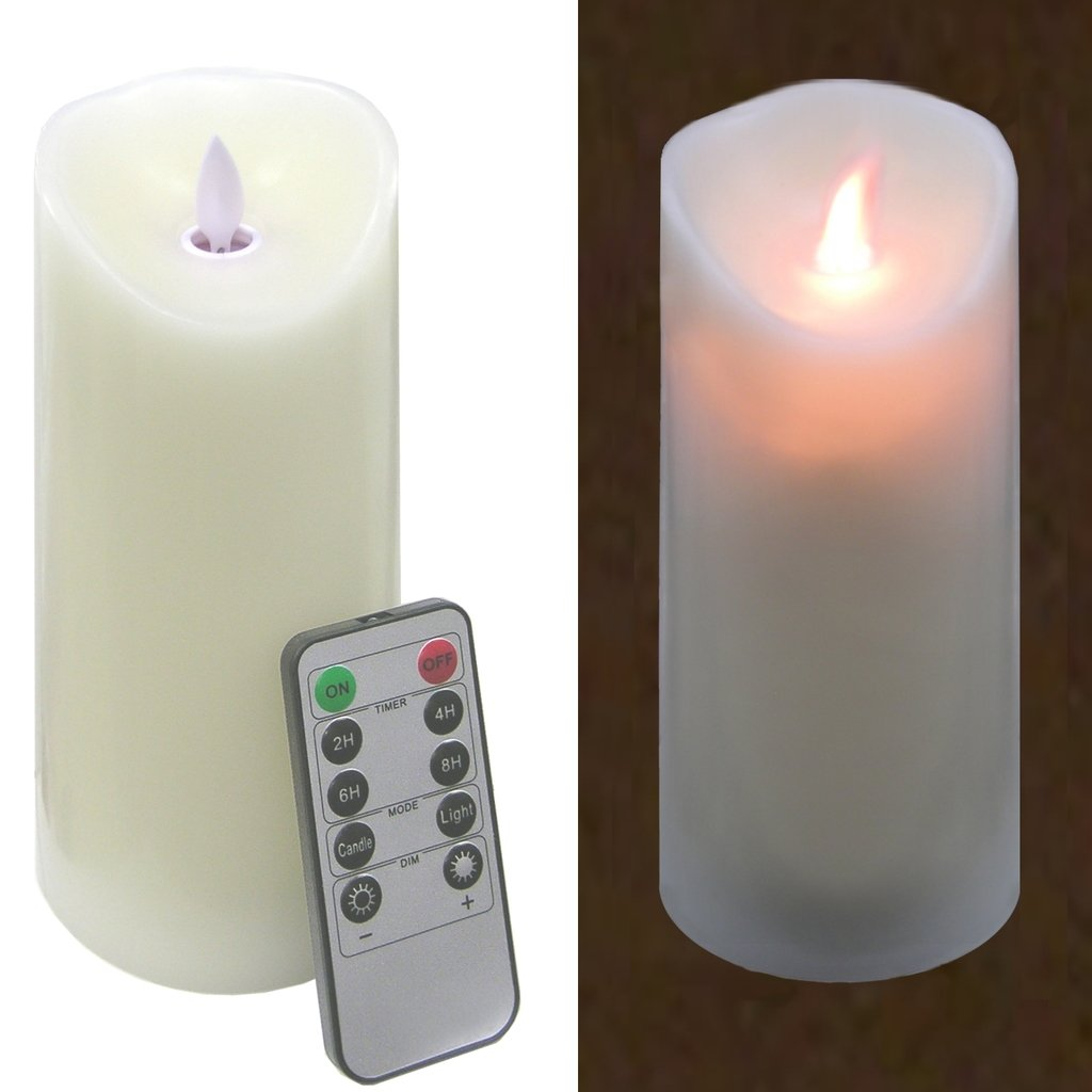 Luminara Type Flameless 7''X 3'' LED Pillar Candle W / Remote103031 by FixtureDisplays