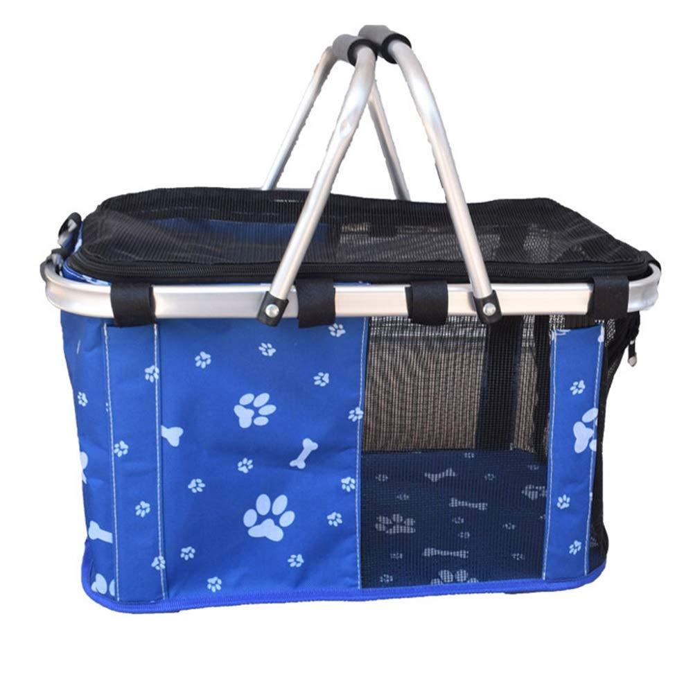 3 SFELICIPP Pet Portable Shopping Basket Foldable Out Diagonal Bag Cat Dog Basket Pet Bag (color   2, Size   S)
