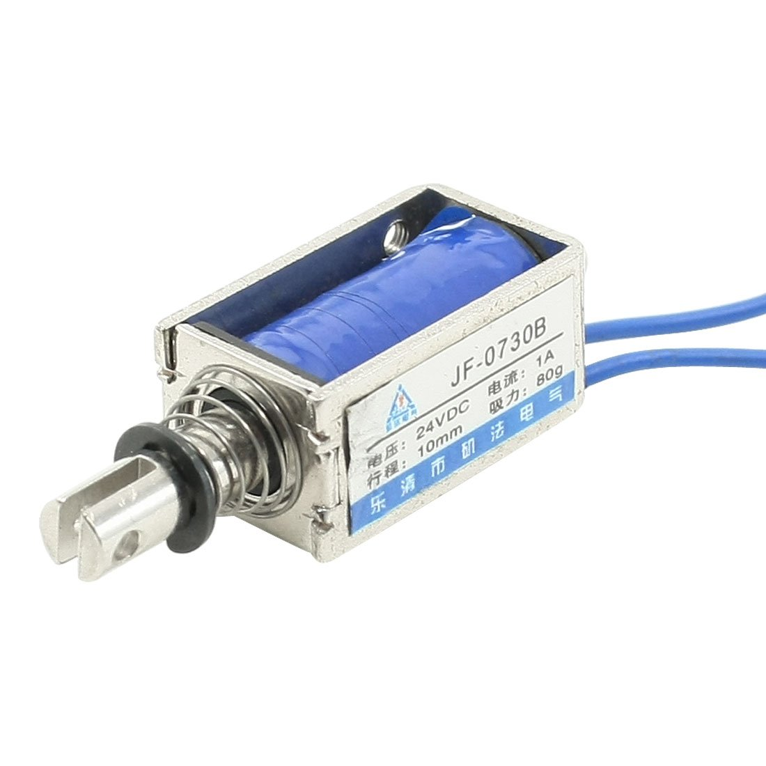 Sourcingmap a13060500ux0004 Dc 24v 1a empuje tipo de tracci/ón marco abierto electroim/án solenoide 10mm 80g