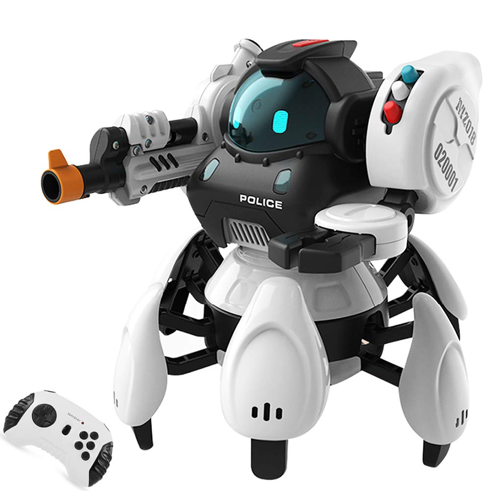 Sparkler Remote Contol Intelligent Robot Toy for Kids with 5 Modes and Fun Voice, Rechargeable Smart Robotics Kit Space Police Starbot by Sparkler (Image #1)