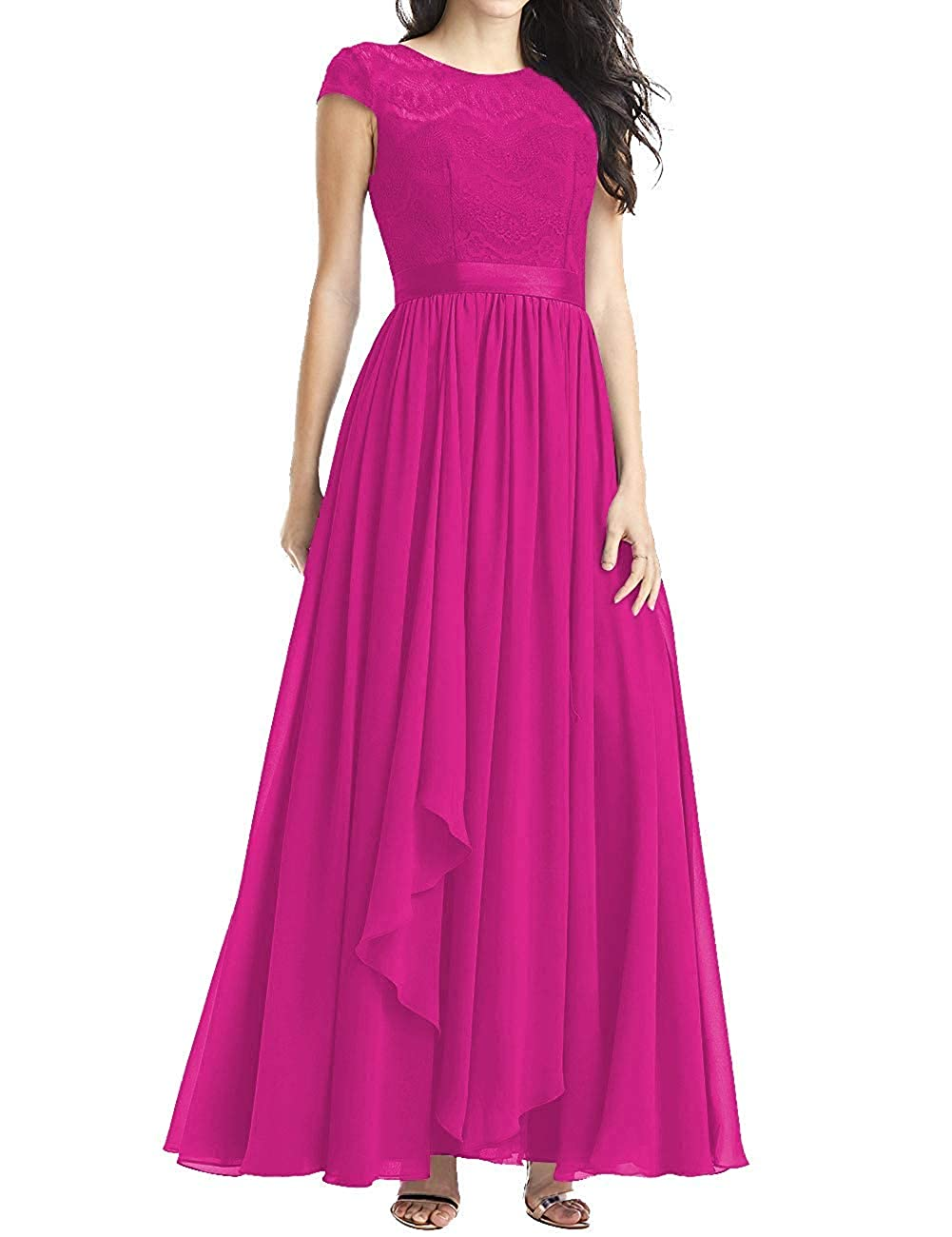 Fuchsia Mother of The Bride Dresses Plus Size Evening Dresses with Sleeves Formal Gowns for Women Evening Dress