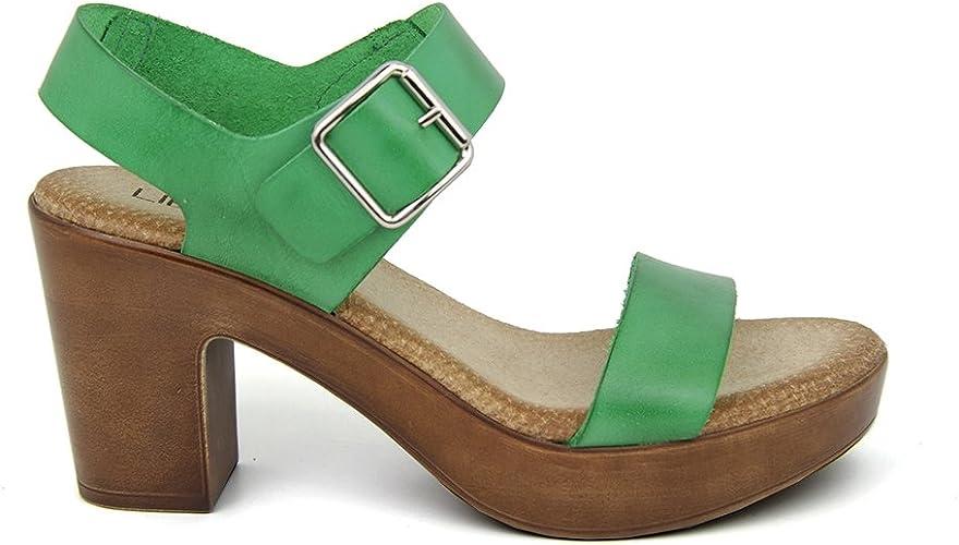 Liberitae , Sandales pour Femme Vert Vert 35 Vert Vert