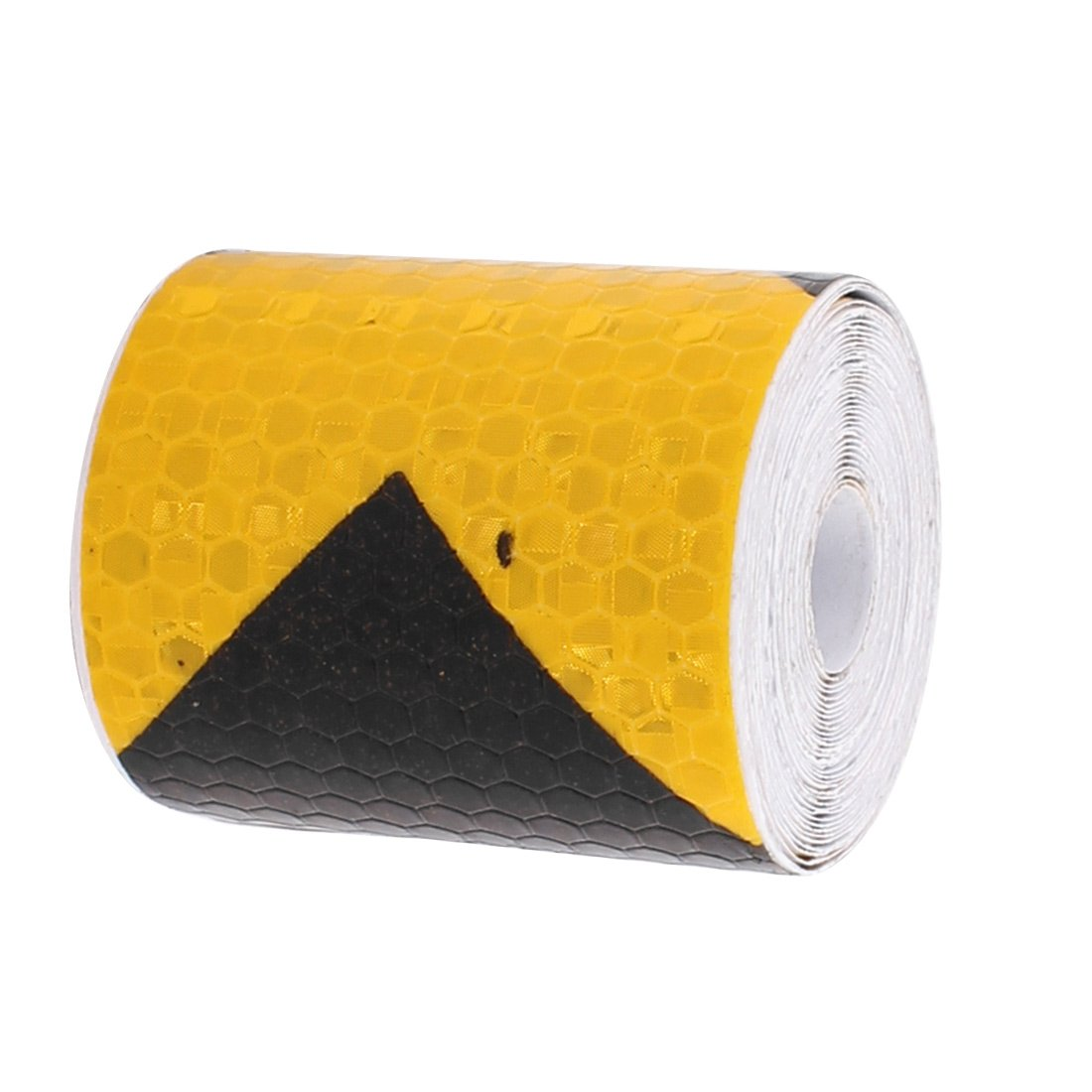 uxcell Yellow Black Arrow Honeycomb Reflective Conspicuity Tape 5cm Width 3 Meters Length