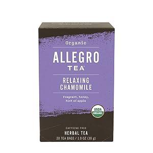 Allegro Tea Organic Relaxing Chamomile Tea Bags, 20 Count