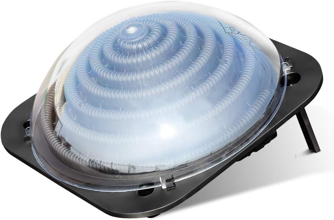 COSTWAY Calentador Solar para Piscina Calefacción de Agua Colector Solar Piscina 57x57x22 Centímetros