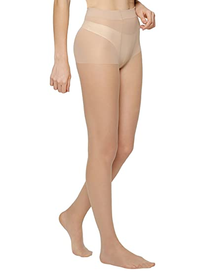 72b1aa2b8c7 Cotson Women s Beige Classic Sheer Nude Pantyhose Tights 20 Denier (Pack of  1)  Amazon.in  Clothing   Accessories