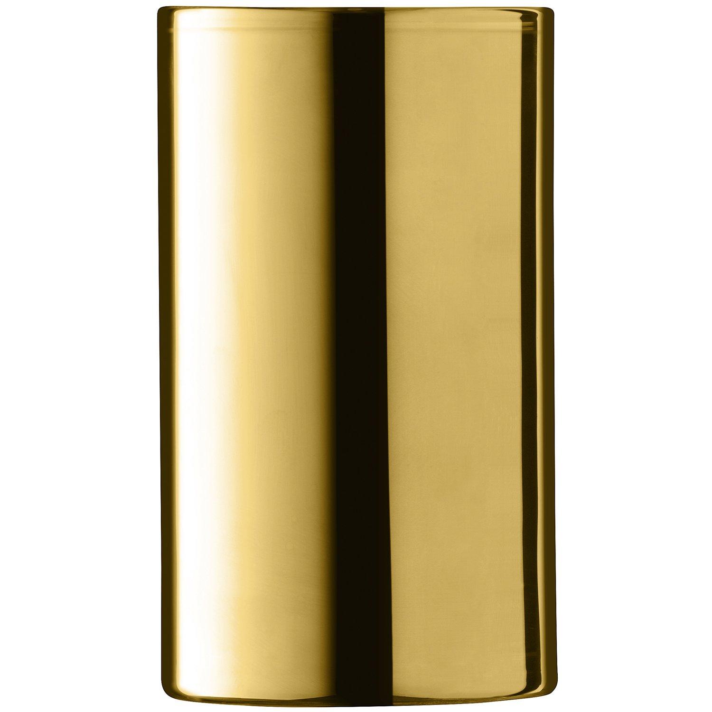 LSA International Flower Metallic Cylinder Vase/Lantern Gold by LSA International