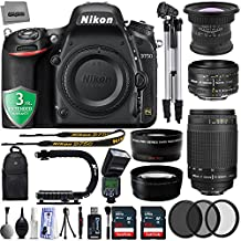 "Nikon D750 24.3MP 1080P DSLR Camera w/ 3.2"" LCD - Wi-Fi & GPS Ready + 5 Lens - 15 to 300mm - 128GB - 30PC Kit - Nikon 50mm 1.8D + Nikon 70-300 G - Opteka 15mm + 2.2X Tele + 0.43X Wide + 3YR Warranty"