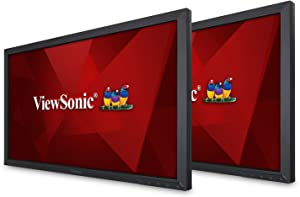 ViewSonic VA2452SM_H2 24 Inch Dual Pack Head-Only 1080p LED Monitors with DisplayPort DVI and VGA, Black