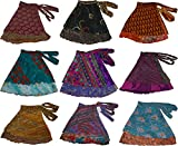 Short Size Two Layer Reversible Wrap Around Art Skirts,Random Assorted,One size