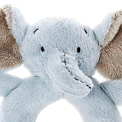 Mousehouse Gifts Hochet /Él/éphant en Peluche Bleu Clair pour B/éb/é Gar/çon