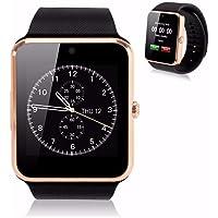 KOSCHEAL GT08 Smart Watch Pantalla táctil Bluetooth gsm Inteligente Reloj teléfono para Android iOS (Dorado)