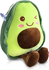 "Avocado Plush Cute Stuffed Fruit Shaped Food Pillow 11.8"" Soft Hugging Kawaii Pillow Gifts for Friends Bedding,Living Room Decoration, Bedroom, Office, Sofa, Christmas"