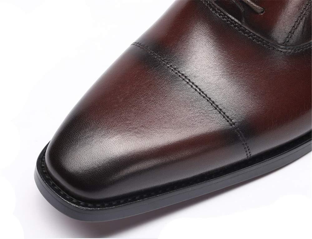 Qiusa DREI Linien Lederschuhe für Männer Formale weiche Sole Poliert Poliert Poliert Kuh Lederschuhe (Farbe   Schwarz, Größe   EU 39) B07JRGC7ZF  27d332