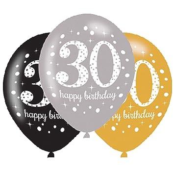 8 Globos * Sparkling 30 * como decoración para el 30º ...
