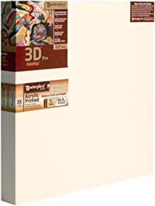 "Masterpiece Artist Canvas 45077 3D PRO 2-1/2"" Deep, 39"" x 63"", Cotton 10.5oz - 3X - Monterey Most Popular"