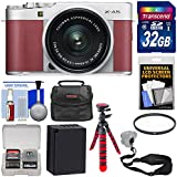 Fujifilm X-A5 Wi-Fi Digital Camera & 15-45mm XC Lens (Pink) with 32GB Card + Battery + Case + Flex Tripod + Strap + Filter + Kit