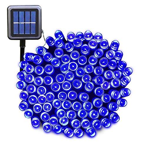 Blue Solar Powered Christmas Lights - 2