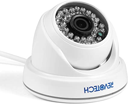 Amazon Com H 265 Hd 3mp Ip Camera Revotech 1080p 2mp Indoor 36 Led Night Vision Dome Security Camera Onvif P2p Cctv Cam With Ir Cut I3012 White Electronics
