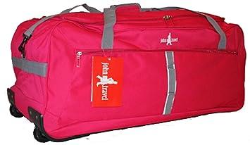John Travel - Maleta con ruedas (ultraligera, 1,8 kg, 95 L, talla XXL), color rojo: Amazon.es: Equipaje